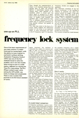 frequency lock system - one up on P L L