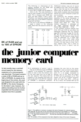 junior computer memory card - 8K of RAM and up to 16K of