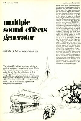 sound generator | Elektor Magazine