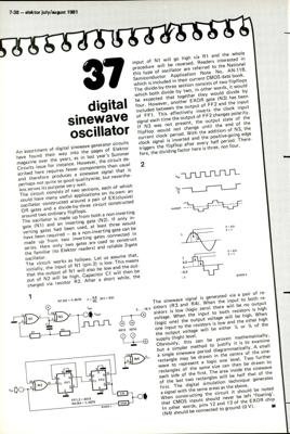 digital sine-wave oscillator | Elektor Magazine