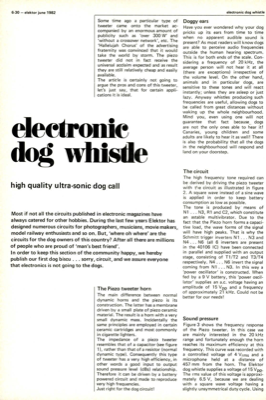 Electronic dog whistle - high quality ultra-sonic dog call
