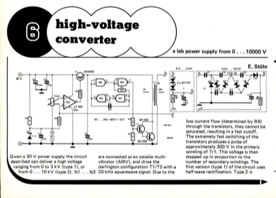 High-voltage converter - a lab power supply from 0   10000 V