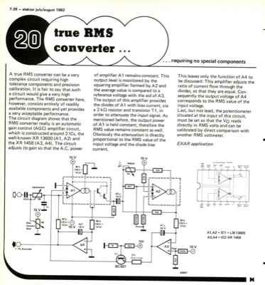 True RMS converter - requiring no special components