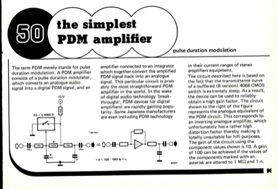 The simplest PDM amplifier - pulse duration modulation