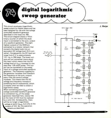 digital logarithmic sweep generator - for VCOs | Elektor Magazine