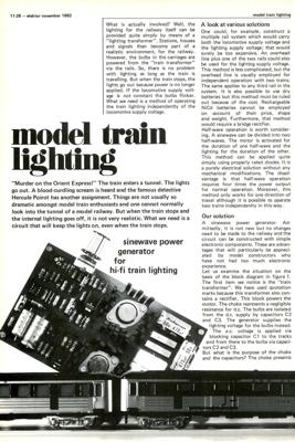 Model train lighting - sinewave power generator for hi-fi