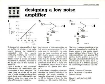 designing a low noise amplifier | Elektor Magazine