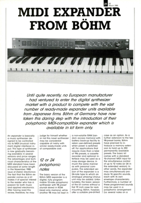 MIDI expander from Böhm