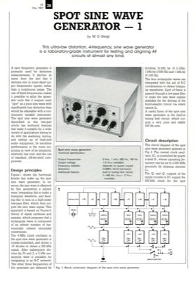 Spot Sine Wave Generator - 1 | Elektor Magazine
