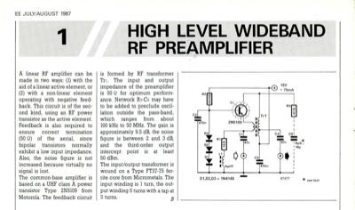 High Level Wideband Rf Preamplifier | Elektor Magazine