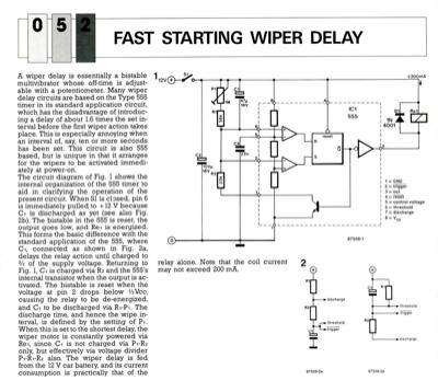 Fast Starting Wiper Delay   Elektor Magazine
