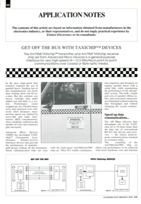 Get Off The Bus With Taxichip Devices