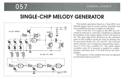 Single-Chip Melody Generator