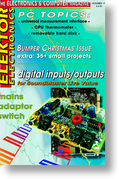 Digital inputs and outputs: