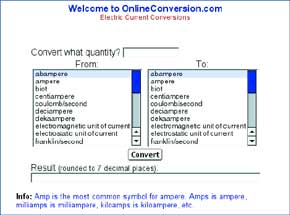 On-line Conversions