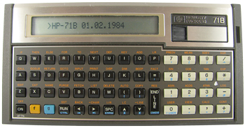 Hewlett Packard 71B Number Cruncher (1984)