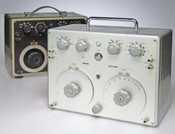 Two Philips GM2308 Audio Signal Generators (1950, 1964)
