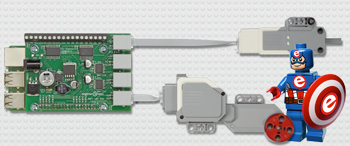 LEGO® Control Board for the Raspberry Pi