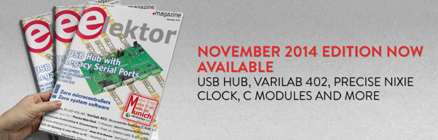 November 2014 Edition of Elektor Released in Print and Digital