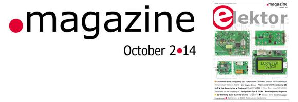 Zero Gone Decimal: Elektor October 2014 Edition for 2-point-14 euros