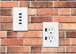 USB wall outlets save space and reduce clutter