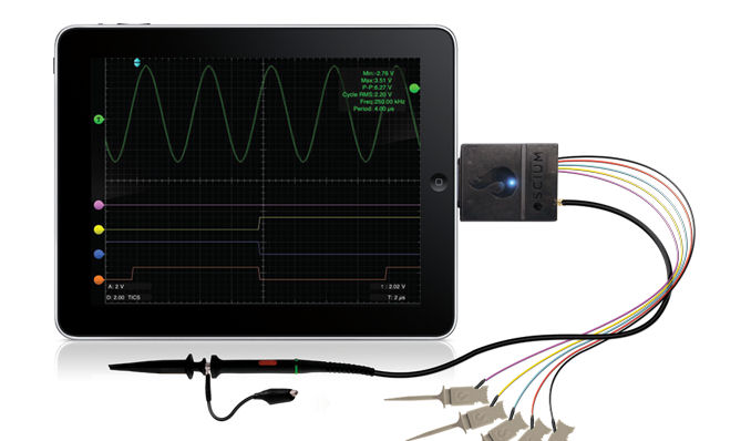 Turn your iPhone / iPad into a mixed-signal 'scope