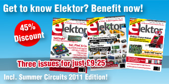 Nine pounds twenty-five buys the next three editions of Elektor