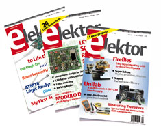 Free welcome gift with an annual subscription to Elektor magazine