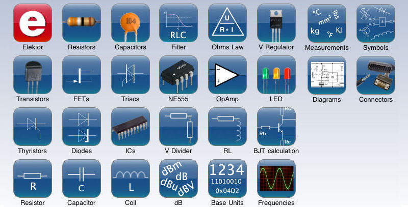 New version of 'Elektor Electronic Toolbox' for iPad / iPhone released