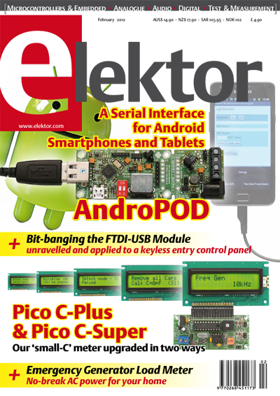 Elektor February 2012 issue now on sale