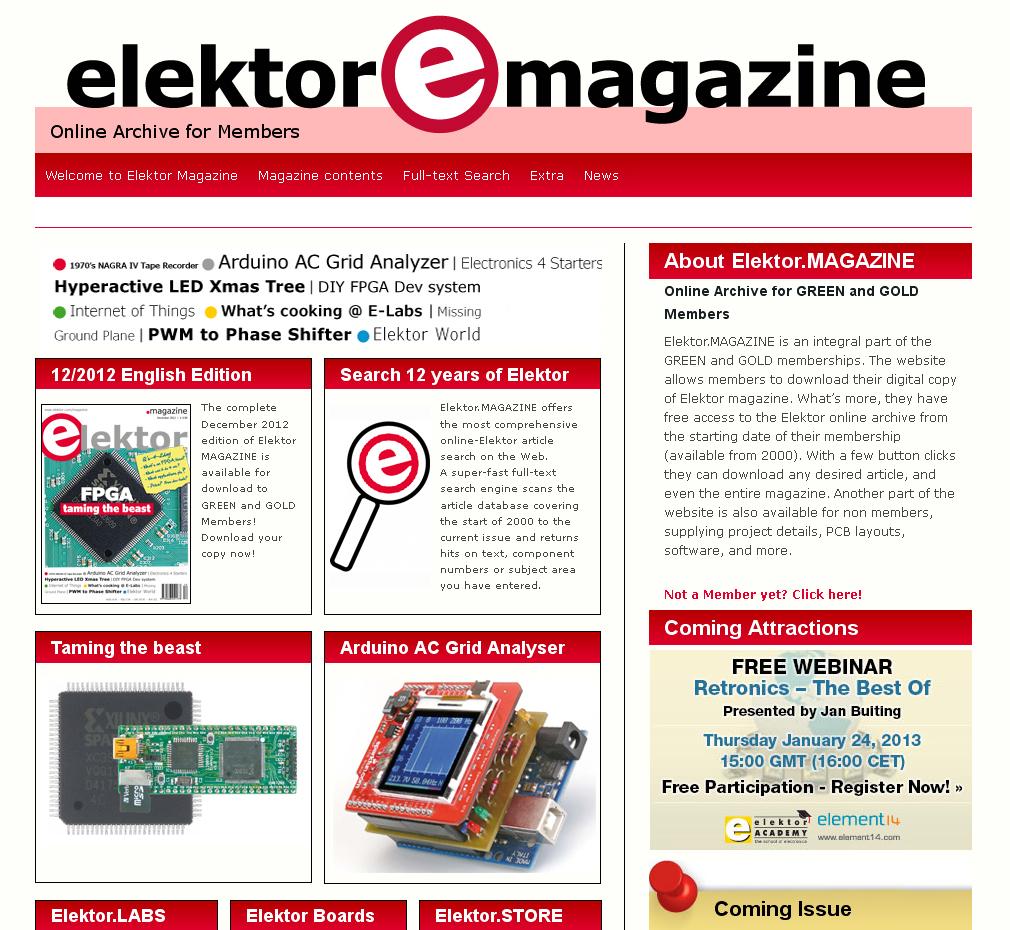 New Elektor magazine website now online