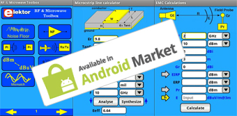 Elektor Presents RF & Microwave Toolbox for Android