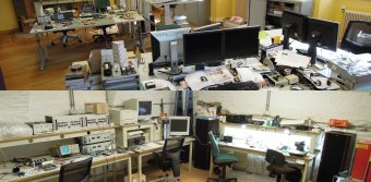 A Rat's Nest-Less Workspace: Clean with Plenty of Screens