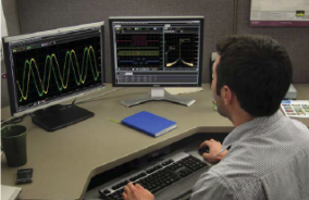 PC Software analyzes Oscilloscope Data