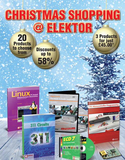 Only Two More Weeks of Festive Savings at Elektor
