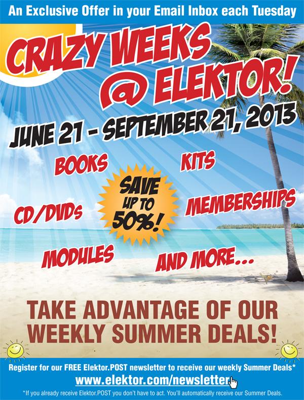 Crazy Weeks @ Elektor – Super Summer Discounts