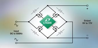 Ideal Diode Bridge Controller Minimizes Rectifier Heat & Voltage Loss