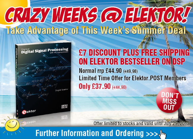 Summer Deal: Elektor Bestseller on DSP at a £7 Discount