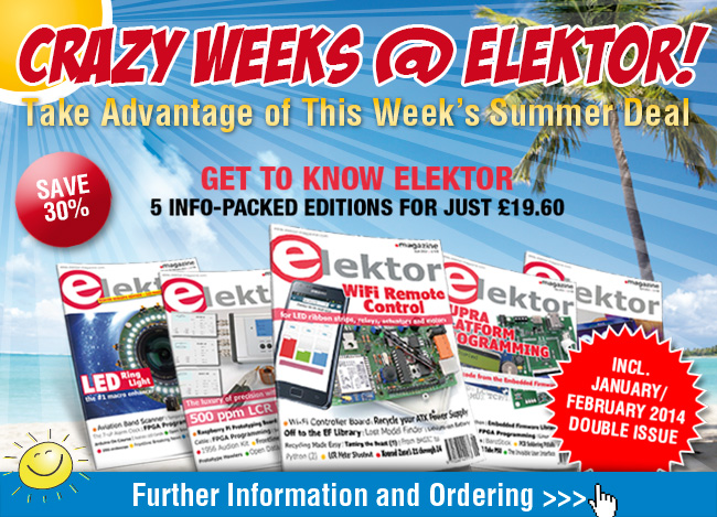 Summer Deal: Five Editions of Elektor Magazine at a Special Low Price