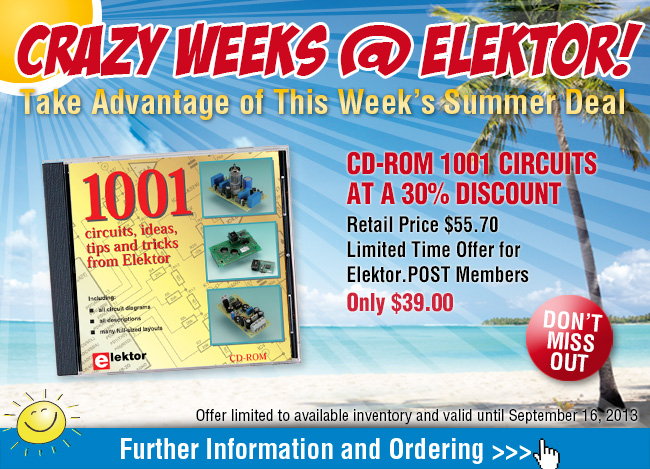 Summer Deal: More than 1,000 Elektor Circuits on CD with a 30% Discount!