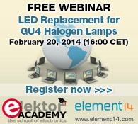 New Webinar: LED Replacement for GU4 Halogen Lamps