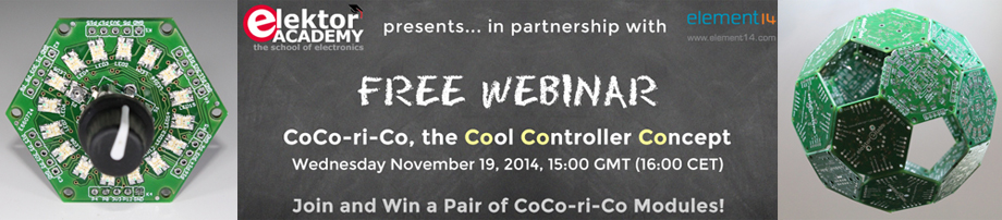 Join Elektor's Cool Controller Concept Webinar (and win…)