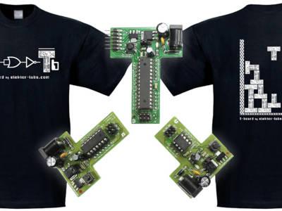 Placas Elektor T-Board e T-Shirts Exclusivas Agora Disponíveis