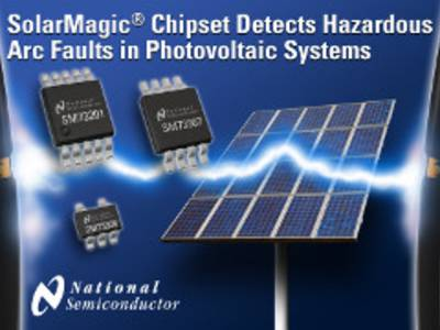 Chipset and firmware detect arcs in solar power systems