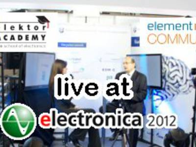 Electronica 2012: Elektor Academy Seminar LIVE on Farnell element14 Stand