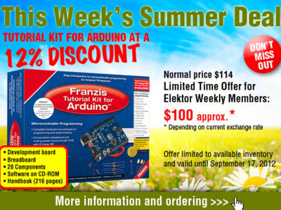 Summer Deal: Tutorial Kit for Arduino at a 12% Discount