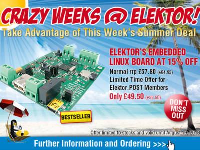 Crazy Summer Deal: Elektor's Embedded Linux Board at 15% Off