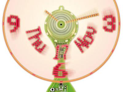 Wow! Discover Elektor's Ulti(mate) Prop(eller) Clock With POV Clockface