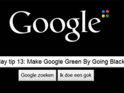 #EcoMonday tip 13: Make Google Green By Going Black!