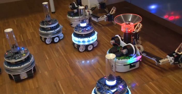 Swarmanoid: A Hive Mind Robot Collective in Action [Video]